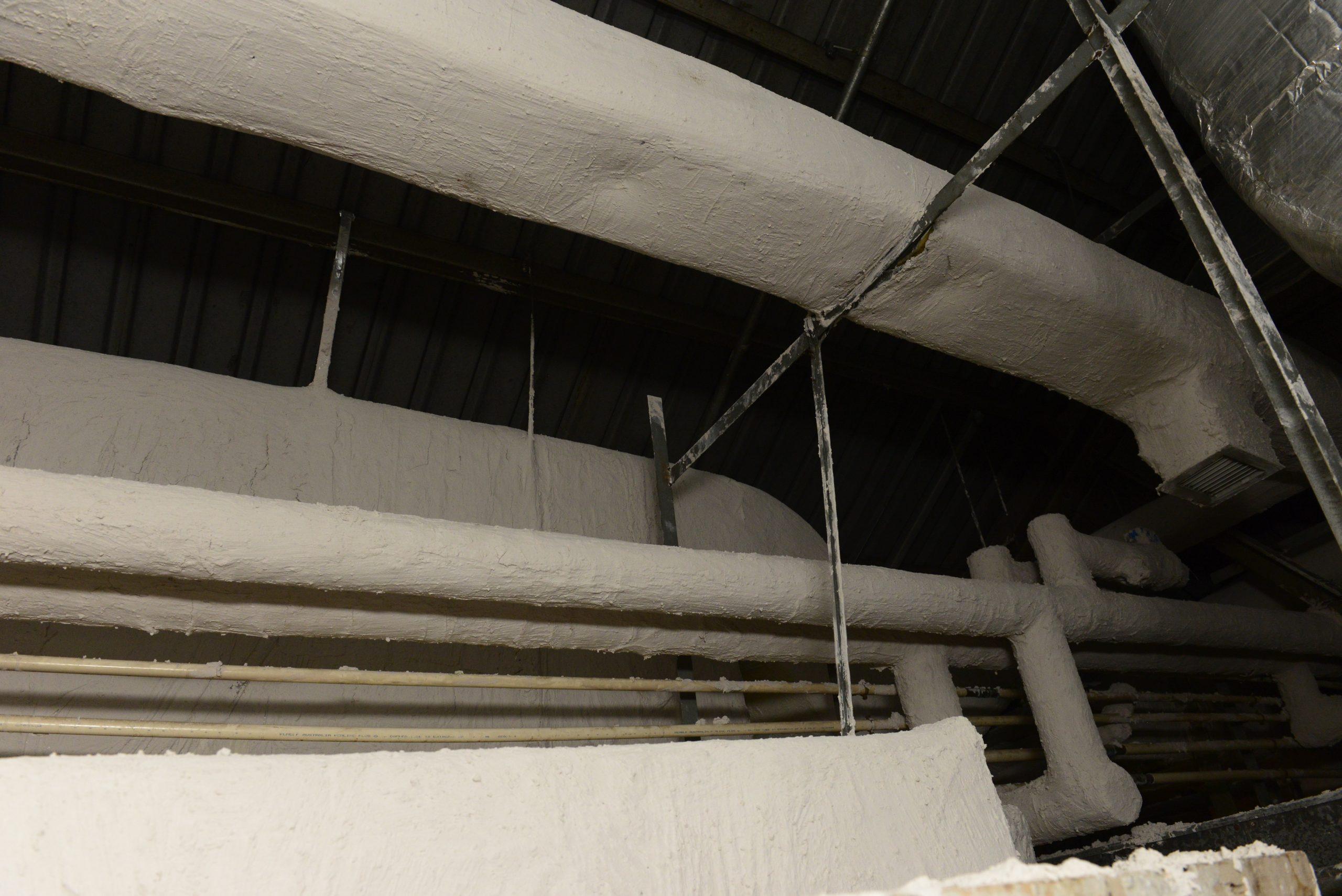 香港九龍木球會扒房使用ITP3100水性無機保溫漆施工後,有效隔熱保溫
