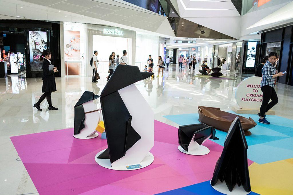元朗西鐵站的大型商場形點 Yoho Mall。攝:盧翊銘/端傳媒