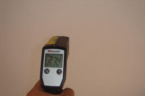 香港碧荔道雅廬使用CG100TIC水泥系隔熱保溫塗料施工後溫度比較,有效降低表面溫度